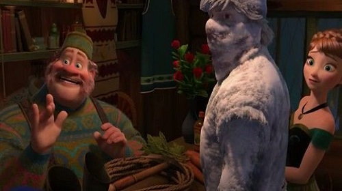Oaken el personaje de película frozen anna