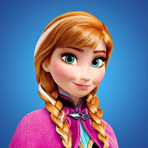 Anna princesa Frozen