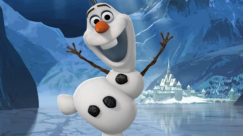 Olaf el personaje cómico de frozen